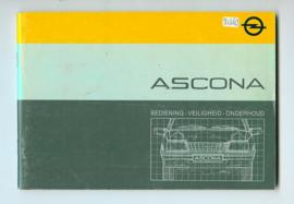 Opel Ascona C  Instructieboekje 85 #2 Nederlands