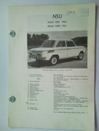 NSU Prinz 1000 1000L  Vraagbaak ATH 65 #2 Nederlands