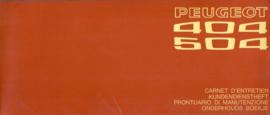 Peugeot   Onderhoudsboekje Jaar #1 Nederlands Duits Frans Italiaans