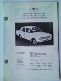 Ford Cortina 1300 1500 1600 GT Vraagbaak ATH 67 #2 Nederlands