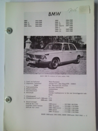 BMW 1800 2000  Vraagbaak ATH 63-68 #2 Nederlands