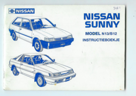 Nissan Sunny N13 B12 Instructieboekje 87 #2 Nederlands