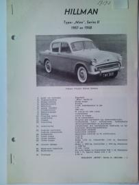 Hillman Minx  Vraagbaak ATH 57-58 #1 Nederlands