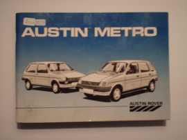 Austin Metro  Instructieboekje 85 #1 Nederlands