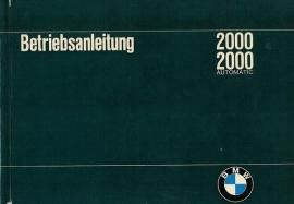BMW 2000  Instructieboekje 66 #1 Duits