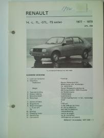 Renault 14  Vraagbaak ATH 77-79 #2 Nederlands