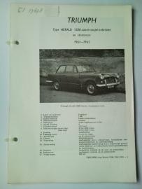 Triumph Herald 1200  Vraagbaak ATH 61-63 #1 Nederlands