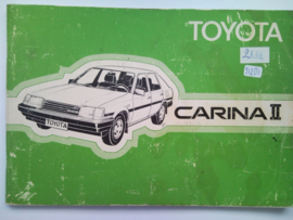 Toyota Carina II  Instructieboekje 88 #4 Nederlands