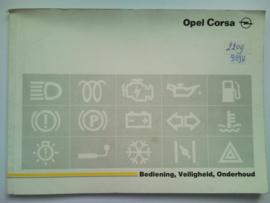 Opel Corsa A  Instructieboekje 89 #1 Nederlands
