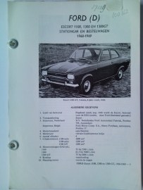 Ford Escort 1100 1300 Vraagbaak ATH 68-70 #1 Nederlands