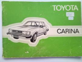 Toyota Carina  Instructieboekje 80 #1 Nederlands