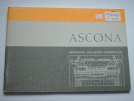Opel Ascona C  Instructieboekje 87 #3 Nederlands