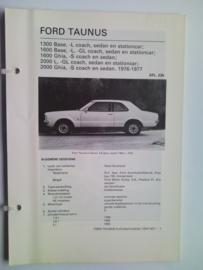 Ford Taunus  Vraagbaak ATH 76-77 #1 Nederlands