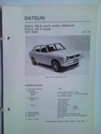 Datsun Cherry  Vraagbaak ATH 71-75 #1 Nederlands