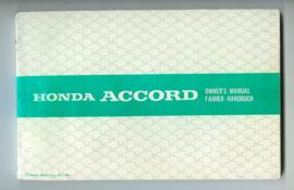 Honda Accord  Instructieboekje 81 #1 Nederland Frans Engels Duits