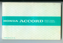 Honda Accord  Instructieboekje 83 #1 Nederland Frans Engels Duits