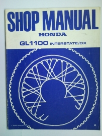 Honda GL1100 INTERSTATE/DX  Shop manual 80 #1 Engels