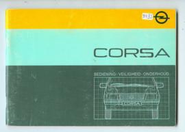 Opel Corsa A  Instructieboekje 86 #2 Nederlands