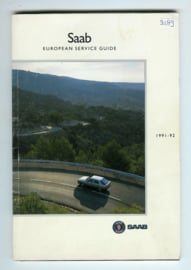 Saab European Sevice Guide  Dealerlijst 91-92 #1 Engels