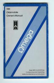 Oldsmobile Omega  Instructieboekje 81 #1 Engels