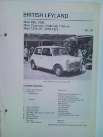 British Leyland Mini  Vraagbaak ATH 70-75 #1 Nederlands