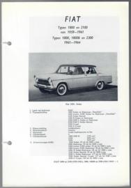 Fiat 1800 2100 2300  Vraagbaak ATH 75-77 #1 Nederlands