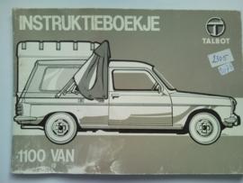 Talbot 1100 VAN  Instructieboekje 79 #1 Nederlands