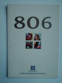 Peugeot 806  Brochure 97 #1 Nederlands