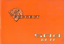 Peugeot 504  Instructieboekje 78 #2 Nederlands Duits Frans Italiaans