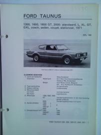 Ford Taunus  Vraagbaak ATH 71 #1 Nederlands
