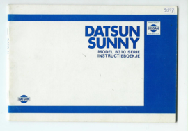 Datsun Sunny Model B310 Instructieboekje 80 #1 Nederlands
