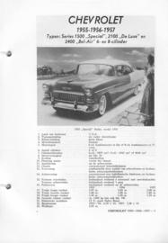 Chevrolet Typen 6 cil. en 8 cil.  Vraagbaak ATH 55-57 #1 Nederlands