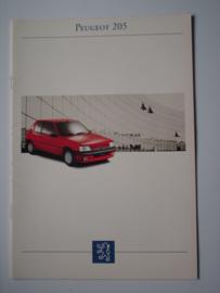 Peugeot 205  Brochure 93 #1 Nederlands