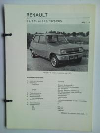 Renault 5  Vraagbaak ATH 72-75 #2 Nederlands
