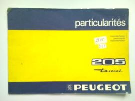 Peugeot 205  Instructieboekje 74 #1 Nederlands Duits Frans Italiaans