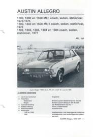 Austin Allegro  Vraagbaak ATH 73-77 #4 Nederlands