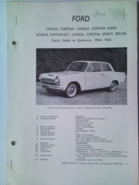 Ford Consul Cortina  Vraagbaak ATH 62-63 #2 Nederlands