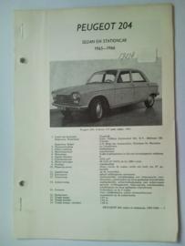 Peugeot 204  Vraagbaak ATH 65-66 #2 Nederlands