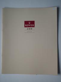 Rover 200  Brochure 90 #4 Nederlands