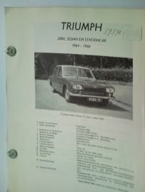 Triumph 2000  Vraagbaak ATH 64-66 #1 Nederlands