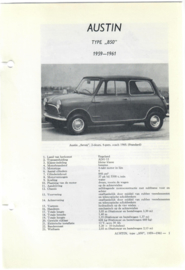 Austin 850  Vraagbaak ATH 59-61 #1 Nederlands