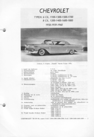 Chevrolet Typen 6 cil. en 8 cil.  Vraagbaak ATH 58-60 #1 Nederlands