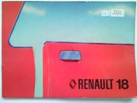 Renault 18  Instructieboekje 79 #1 Nederlands