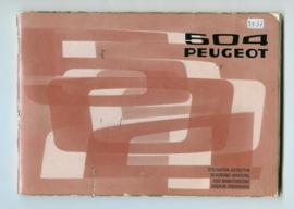 Peugeot 504  Instructieboekje 75 #1 Nederlands Duits Frans Italiaans