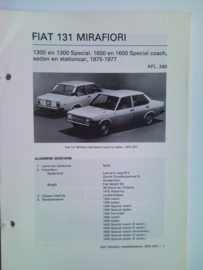 Fiat 131  Vraagbaak ATH 75-77 #1 Nederlands