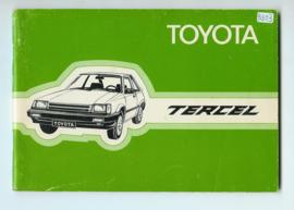 Toyota Tercel  Instructieboekje 82 #4 Nederlands