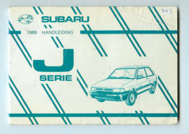 Subaru Justy  Instructieboekje 89 #1 Nederlands