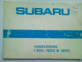 Subaru 1300 1600 1800  Instructieboekje 81 #2 Nederlands