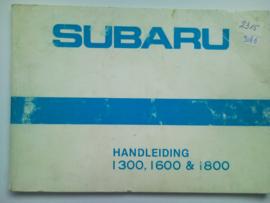 Subaru 1300 1600 1800  Instructieboekje 81 #2 Nederlands