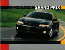 Pontiac Grand Prix  Brochure .03 #1 Engels